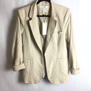 🆕 Rachel Zoe linen-blend open front blazer. Large